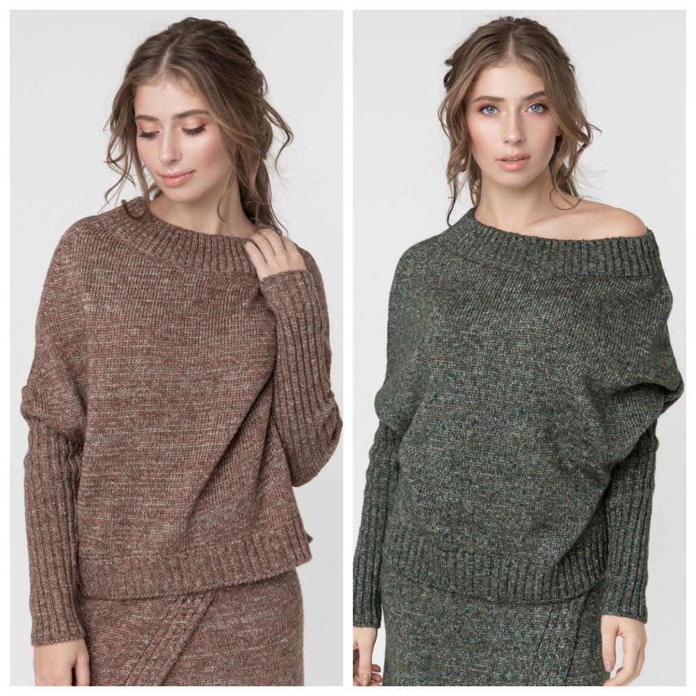 Джемпер нарядный, сдержанный и комфортный одновременно, разные цвета, р.One Size, код 2972М