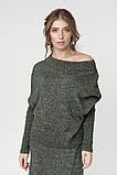 Джемпер нарядный, сдержанный и комфортный одновременно, разные цвета, р.One Size, код 2972М, фото 6