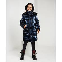 Зимова куртка Уляна для дівчинки колір темно-синій