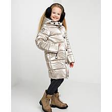 Очень теплое зимнее пальто детское Ульяна на флиссовой подкладке