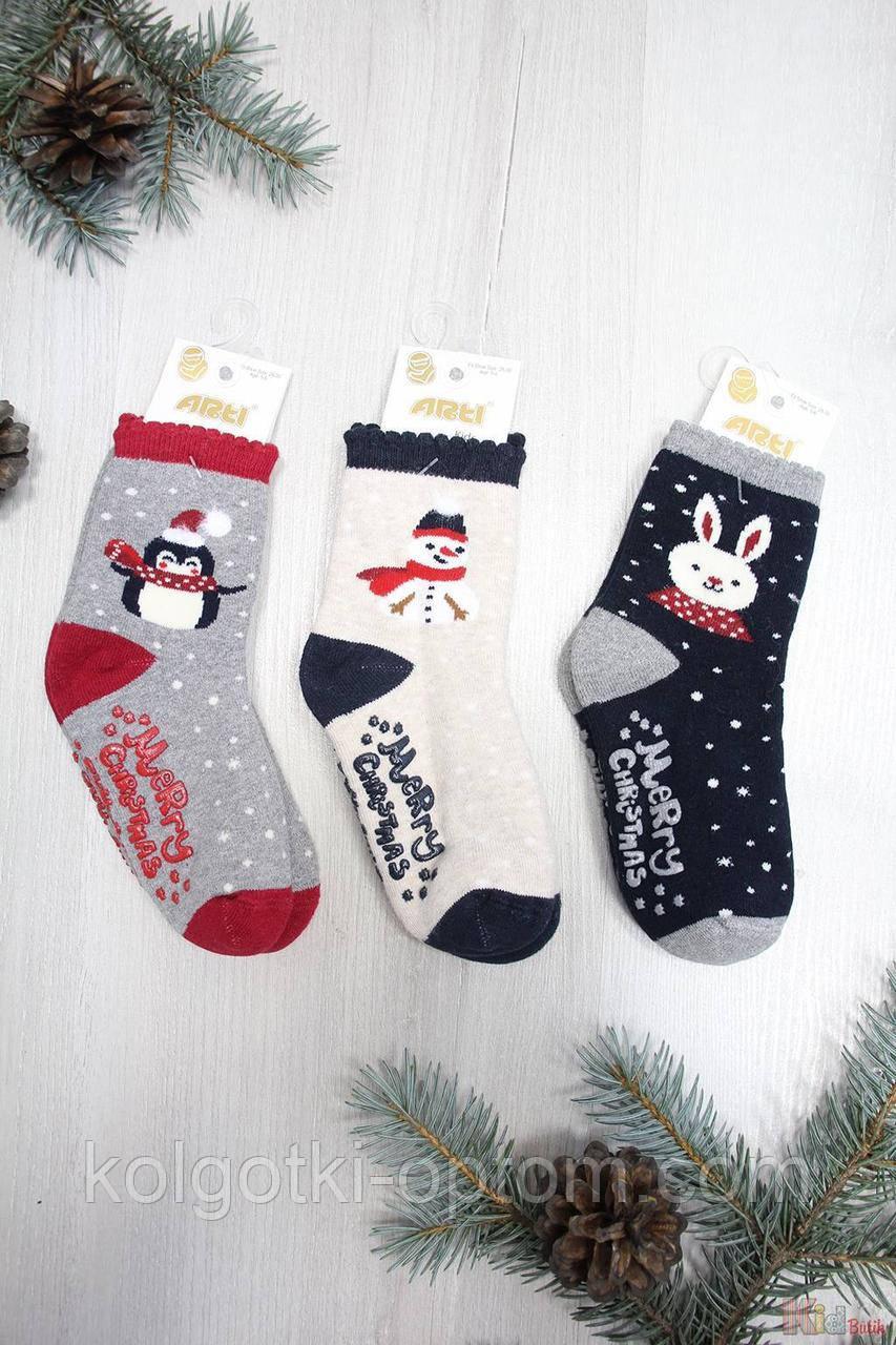 """ОПТОМ Носки махровые не скользящие """"Merry Christmas"""" для ребенка 1-2 года (14 / 1-2 года)  Arti 8680652401404"""