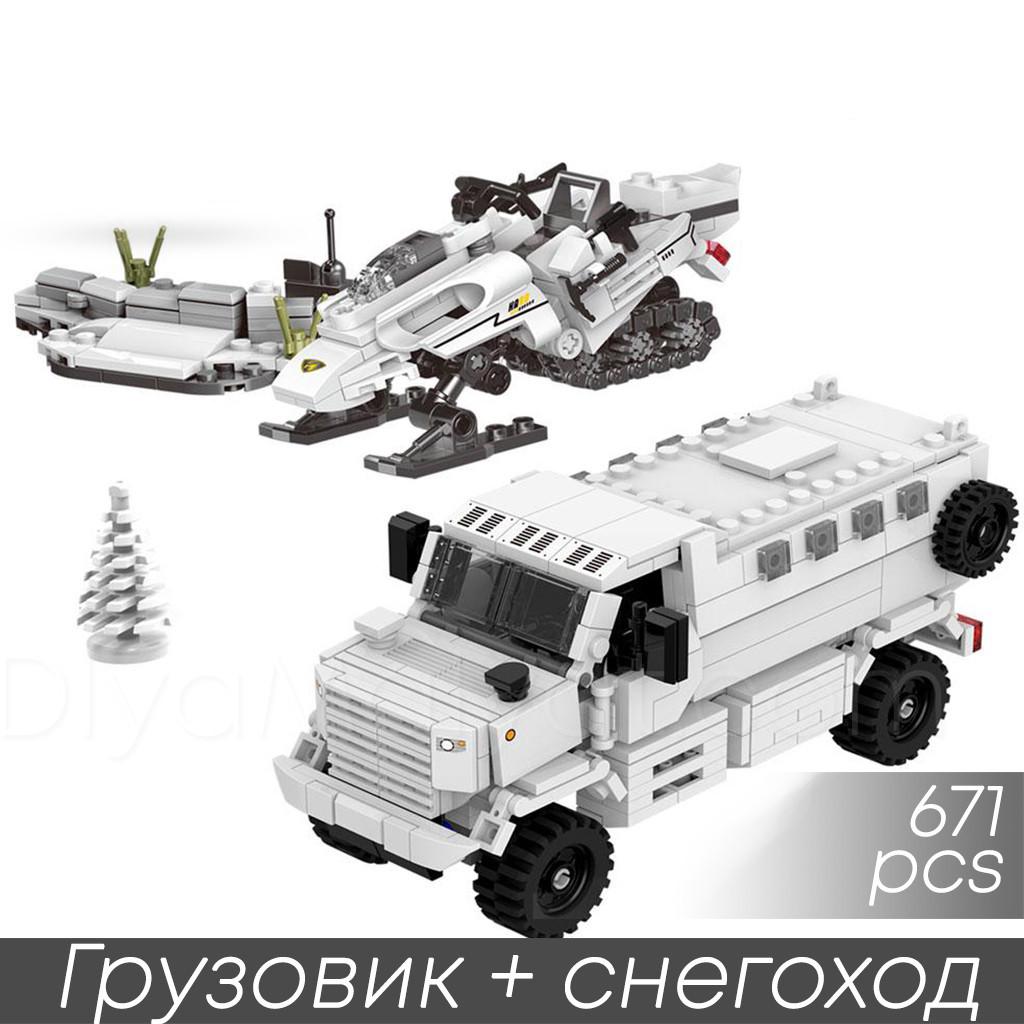 Конструктор limo toy kb 017 военная техника машина,снегоход 671 деталь