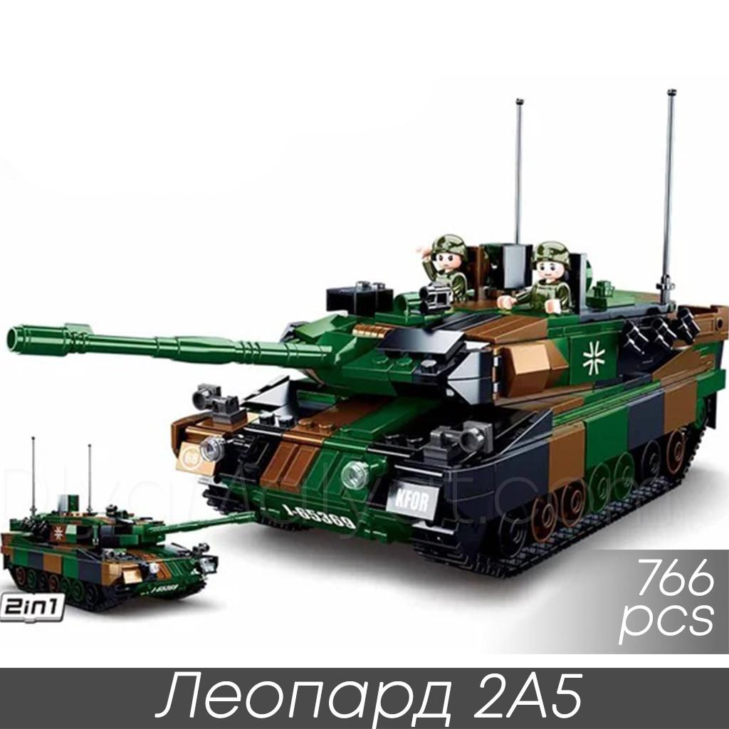 "Конструктор Sluban M38-B0839 ""Леопард 2A5"" 766 дет"