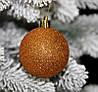 Куля новорічна коричнева мікс D 8 см (80мм)