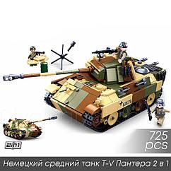 """Конструктор Sluban M38-B0859 """"Немецкий средний танк Т-V Пантера 2 в 1"""" 725 дет"""