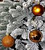 Куля новорічна коричнева мікс D 6 см (60мм)