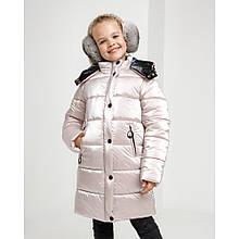 Детская зимняя куртка для девочки Ульяна с капюшоном