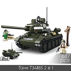 """Конструктор Sluban M38-B0689 """"Танк T34/85 2 в 1"""" 687 дет"""