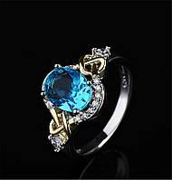 Нежное двухцветное кольцо Лагуна, размер 19