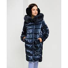 Зимняя детская куртка София с натуральным мехом
