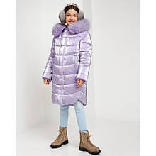 Детское зимнее пальто София с натуральным мехом
