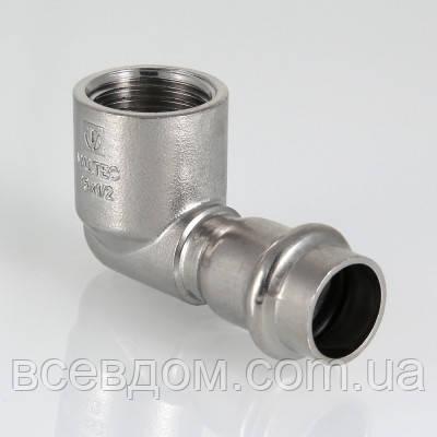 """Прес-косинець Valtec VTi.952 з нержавіючої сталі з внутрішнім різьбленням 22х1/2"""""""