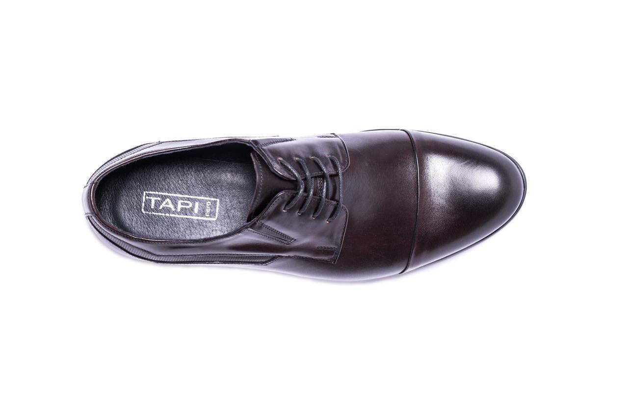 Польські туфлі дербі, бордові Tapi 109 туфли