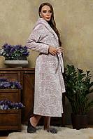Длинный халат женский с капюшоном, фото 1