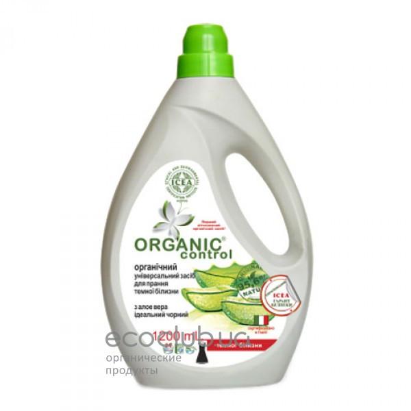 Средство для стирки темного белья с алое Идеальный черный универсальное органическое Organic control 1200мл