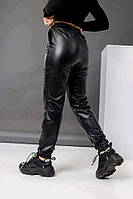 Кожаные штанишки на флисе из эко-кожи