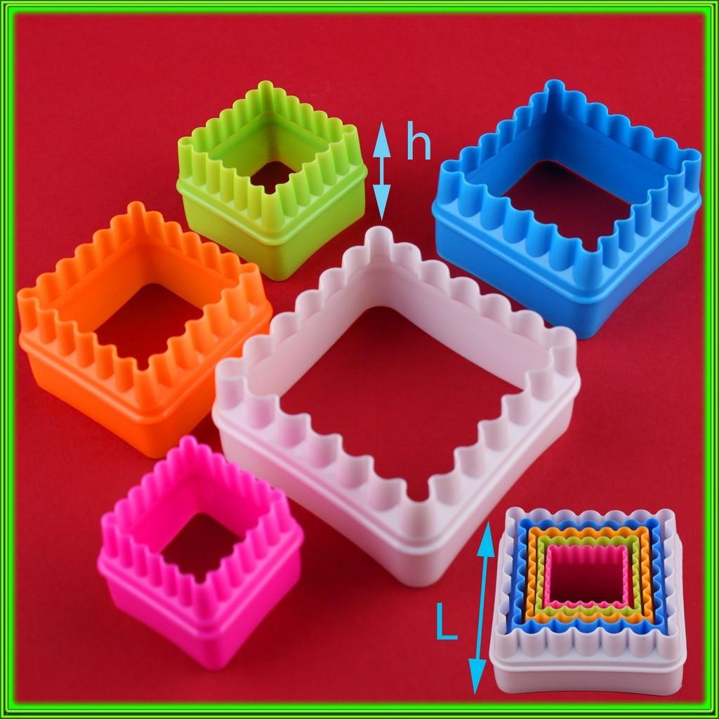 Набор формочек кондитерских Квадратики из 5 штук L ( 7.5см/6см/5см/4см/3,5см ) h3.5см