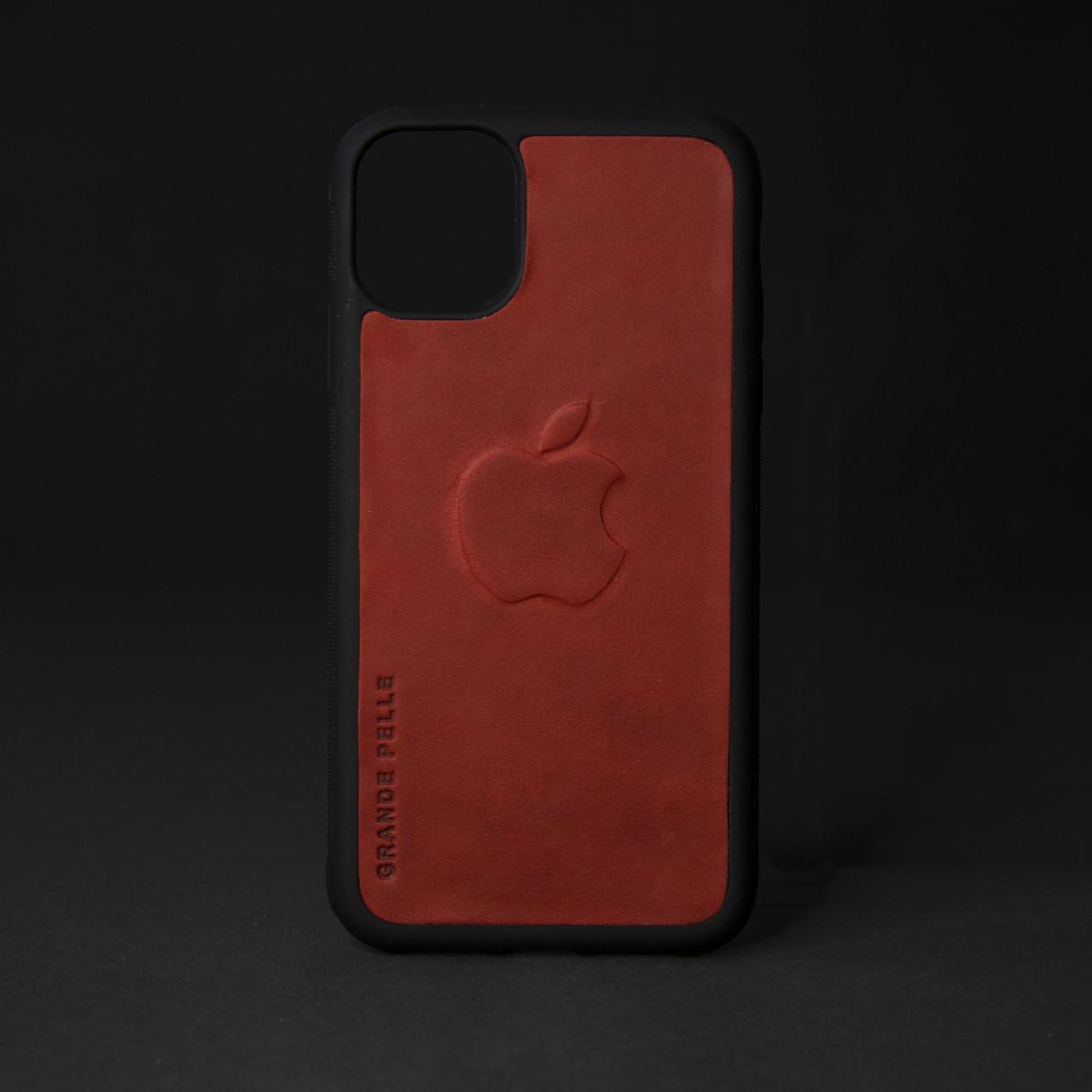 Кейс для IPhone, червоний, з металевою вставкою для автотримача