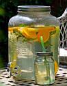 Стеклянный диспенсер для напитков с краником и отсеком для льда 8 литров, фото 2