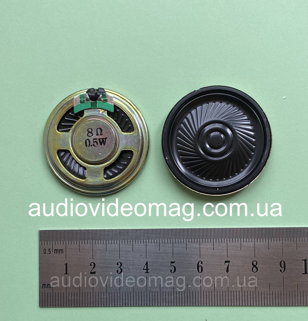 Динамік, опір Ω 8 Ом, 0.5 Вт, діаметр 36 мм, металевий корпус