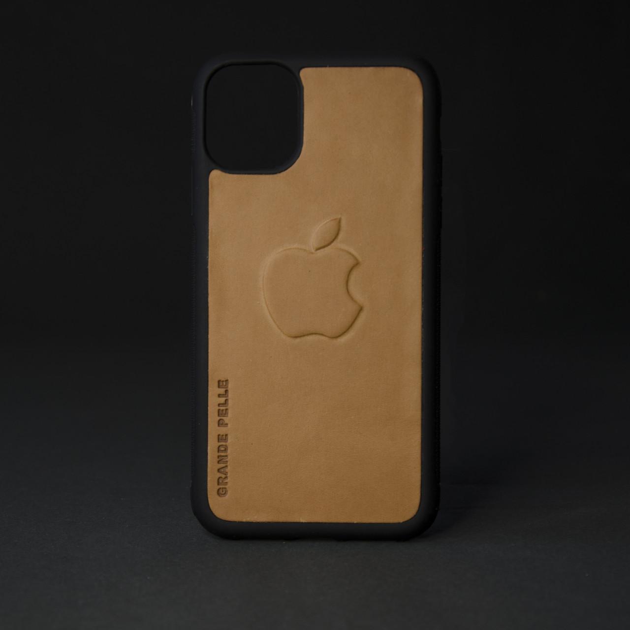Кейс для IPhone, пісочний, з металевою вставкою для автотримача