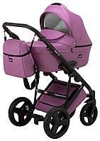 Универсальная детская коляска Bair Leo кожа 100% GN-17 сиреневый, фото 1