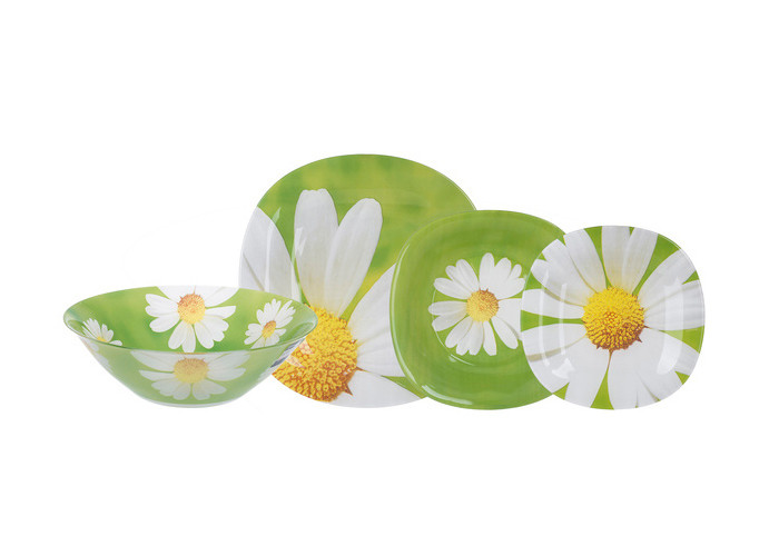 Столовый сервиз с салатником Luminarc Carine Paquerette Green 19пр/6персон