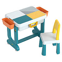 Детский многофункциональный столик POPPET ТРАНСФОРМЕР 6 в 1 разноцветный