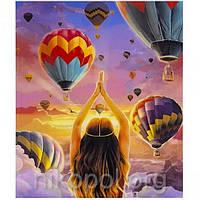 """Картина по номерам """"Воздушные шары"""" на полотне, большая 400*500мм №30338"""