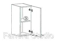 Навесной шкаф шириной 300 мм, фото 2
