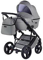 Универсальная детская коляска Bair Leo кожа 100% GN-330 серый, фото 1