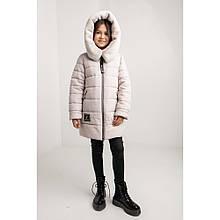 Куртка зимняя детская Леся на молнии длина выше колена