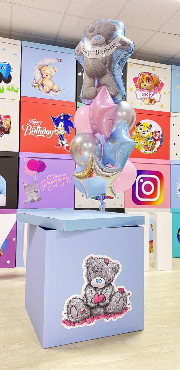 Коробка в стиле мишка Тедди