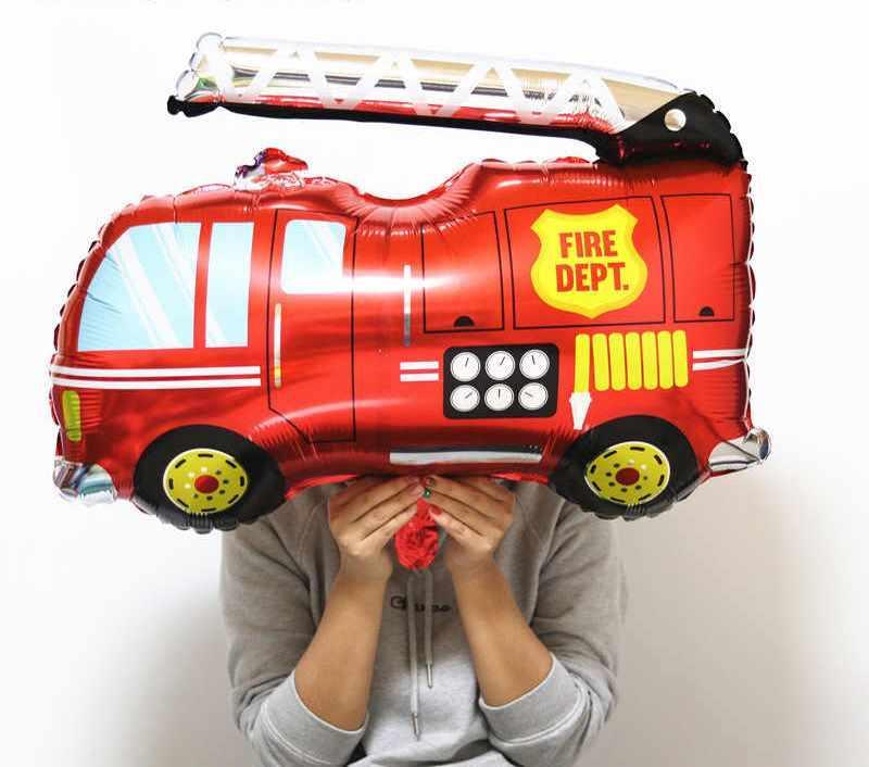 Фольгированный шар Пожарная машина.Размер 85,5*79 см 1864