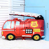 Фольгированный шар Пожарная машина.Размер 85,5*79 см 1864, фото 2