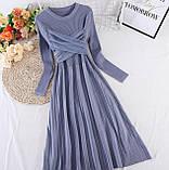 Платье серо-голубое, фото 4