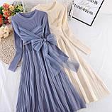 Платье серо-голубое, фото 3