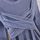 Платье серо-голубое, фото 2