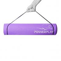 Килимок для фітнесу і йоги PowerPlay 4010, 173х61х0,6 Фіолетовий SKL24-143782