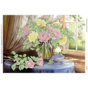 Заготовка під бісер Натюрморт з трояндами біля вікна (БС-2040)