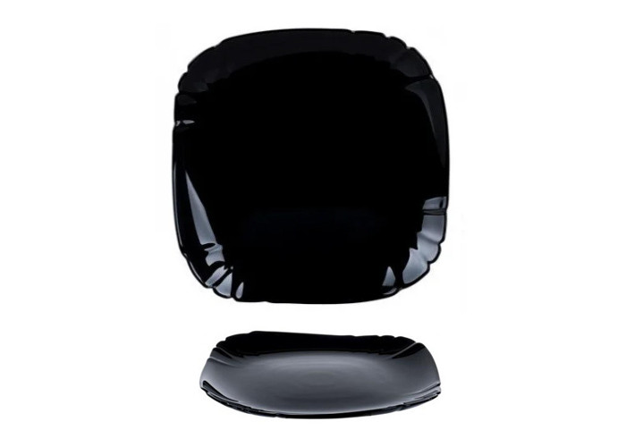 Глубокая черная тарелка Luminarc Lotusia Black 20.5см