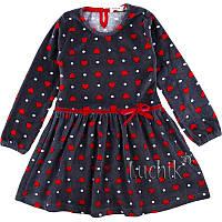 """Платье велюровое для девочки. Размер: 104. серый/красный. TM """"BREEZE"""" 15245. Турция."""