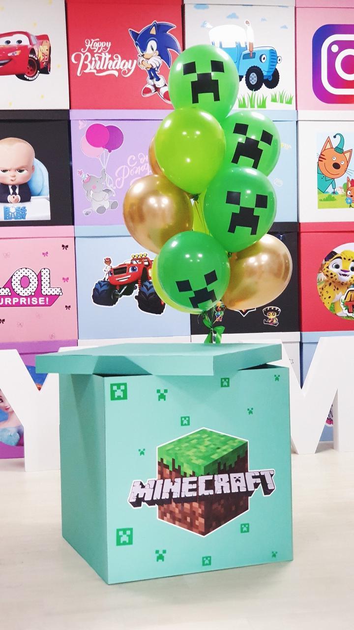 Коробка в стиле майнкрафт