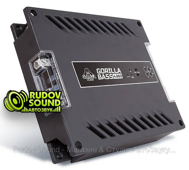 Kicx Gorilla Bass 4.660 усилитель 4-х канальный 660w 1 Ом