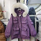 Парка женская зимняя айвори, фото 4