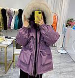Парка женская зимняя айвори, фото 3