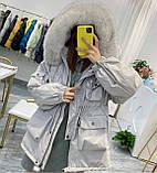 Парка женская зимняя айвори, фото 2