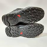 Зимние мужские кожаные кроссовки на меху Черные, фото 6