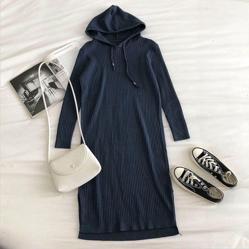 Платье синее оверсайз