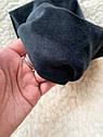 Пов'язка чалма велюр жіноча чорна широка тюрбан тепла, широкая теплая повязка черная, фото 4